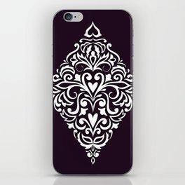 white damask rhombus iPhone Skin