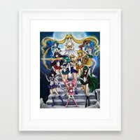 sailor moon Framed Art Prints featuring SAILOR MOON  by CARLOSGZZ