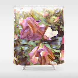 Petals Falling From The Flowers Shower Curtain
