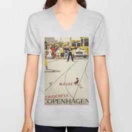 Vintage poster - Copenhagen Unisex V-Neck