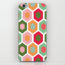 ikat honeycomb tutti fruit #homedecor iPhone Skin