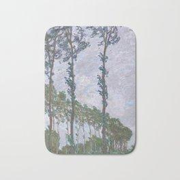 Claude Monet - Wind Effect, Series of The Poplars, 1891 Bath Mat