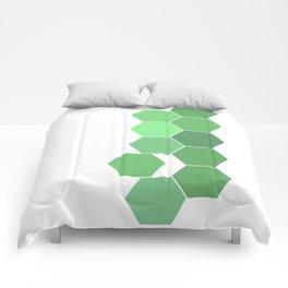 """Hexagon """"die grünen Waben"""" Comforters"""