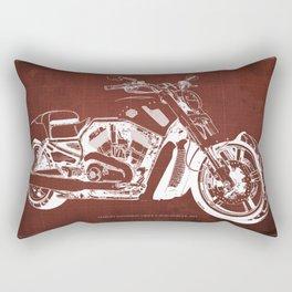 2011 HD VRSCF V-Rod Muscle red blueprint Rectangular Pillow