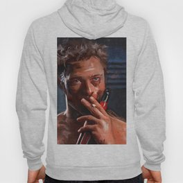 Tyler Durden Shirtless With Beer - Fight Hoody