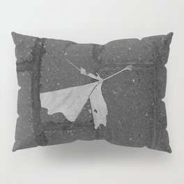 leave and let die, dead leaf, sidewalk urban photography Pillow Sham