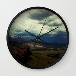 Storm Creeping into South Fork Wall Clock