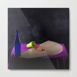 Still life with cherry crumble Metal Print