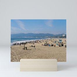 Santa Monica Beach in the Sunny Los Angeles Mini Art Print