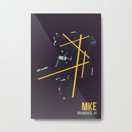 MKE Metal Print