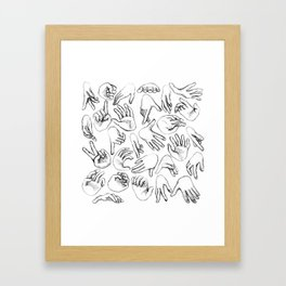 The SENSUALIST Collection (Tact) Framed Art Print