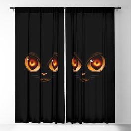 Black Hole Cat Blackout Curtain