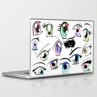 manga Laptop & iPad Skins featuring Manga Eyes by TAEMI.