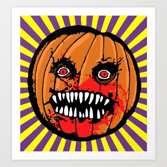 Jack-o-Lantern Art Print