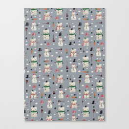 Snowanimals Canvas Print