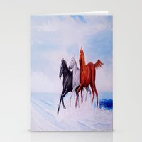 horses Stationery Cards featuring horses by shannon's art space