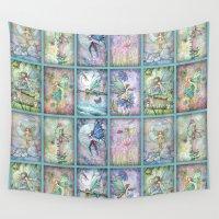 fairies Wall Tapestries featuring Many Fairies Molly Harrison Fantasy Art by Molly Harrison Art
