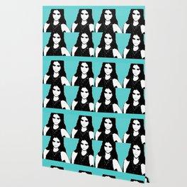 Ms Gomez blue pop art Wallpaper