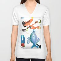 surrealism V-neck T-shirts featuring Surrealism by amanvel