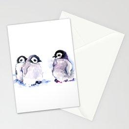 Penguins, penguin design baby penguin art, children gift Stationery Cards