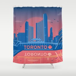 Toronto Nathan Phillips Square Canada by Cindy Rose Studio Shower Curtain