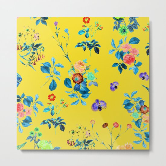 Floral Shower || #society6 #decor #buyart Metal Print