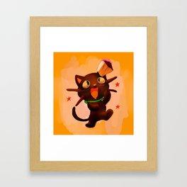 Choco Cat Framed Art Print