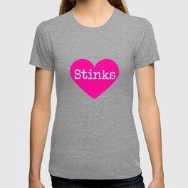 Love Stinks | Pink Heart T-shirt