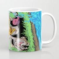 leah flores Mugs featuring Leah by Esau Figueroa