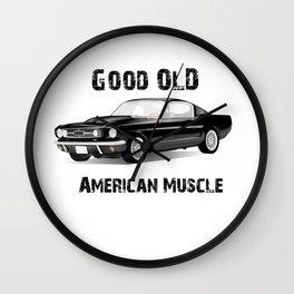 Good Old American Muscle Car Wall Clock