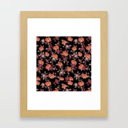 MISTY FLORAL Framed Art Print
