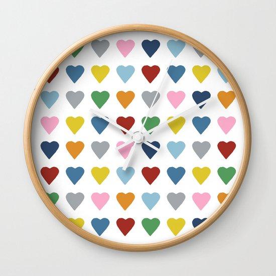 64 Hearts Wall Clock