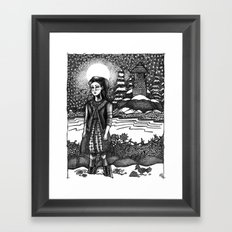 snow girl Framed Art Print