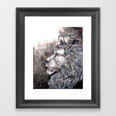 King Lion Framed Art Print
