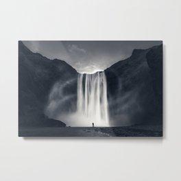 Stormy Skogafoss Metal Print