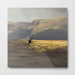 Flying over fields of gold Metal Print