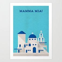 Mamma Mia Minimalist Poster Art Print