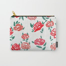 hand draw floral watercolor pattern design Carry-All Pouch