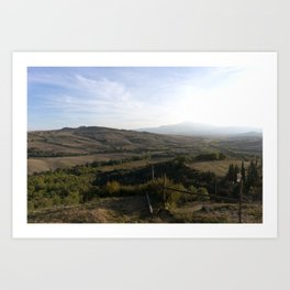 As the Valley Sighs Art Print