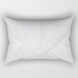 White Geometric Abstaction Rectangular Pillow