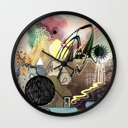 New Worlds Trail Map: The Planet of Mystical Things Wall Clock