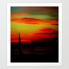 Morning at the Harbour Art Print