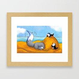 Sandy Snow House Framed Art Print