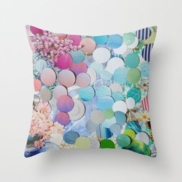 Blueberry Garden Throw Pillow