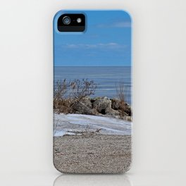 Maumee Bay in Winter I iPhone Case