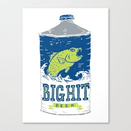 Big Hit Beer Canvas Print