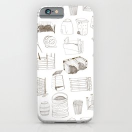 Cover, Contain, COMPOST- 1 of 3 iPhone Case