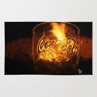 coca cola Area & Throw Rugs featuring Coca Cola by CharlieRae