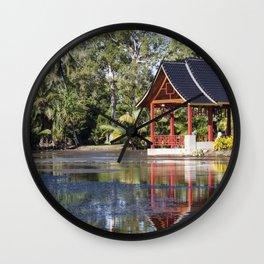 Peaceful Pagoda Wall Clock