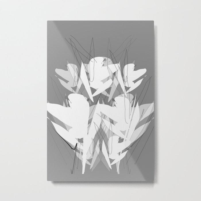 White Flowers  #society6 #decor #buyart Metal Print